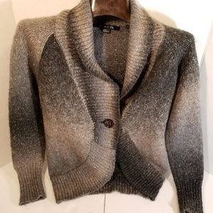 Ombre One Button cardigan M